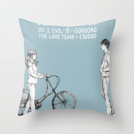 Hapipaks Gig Poster Throw Pillow