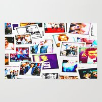 1d Area & Throw Rugs featuring POLAROID ONE DIRECTION 1D by BESTIPHONE5CASESHOP