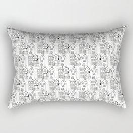 Amsterdam Pattern - White Rectangular Pillow