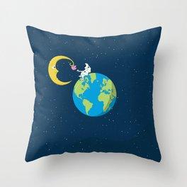 Talk to the Moon Throw Pillow
