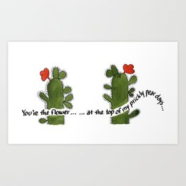 Prickly Pear Days Art Print