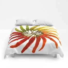 Charleston Hot Peppers Color Wheel Comforters