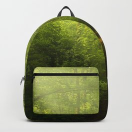 Woodland ,trees ,forest,nature landscape background  Backpack