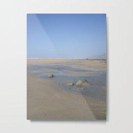 ENDLESS DESERTED BEACH CORNWALL Metal Print
