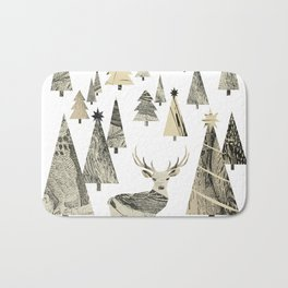 Winter Woods, collage Bath Mat