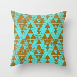 ZODIAC STACKED AQUA Throw Pillow
