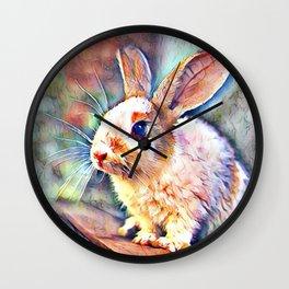 Aquarell Bunny Wall Clock