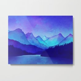 Cerulean Blue Mountains Metal Print