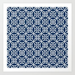 Abstract geometric Pattern 88 Art Print
