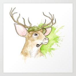 Stag Illustration Art Print