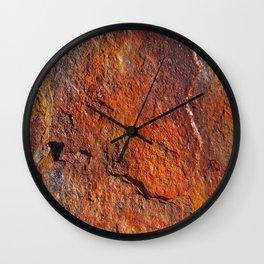 Fire Stone rustic decor Wall Clock