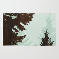 norway Area & Throw Rugs featuring norway  by jefdesigns