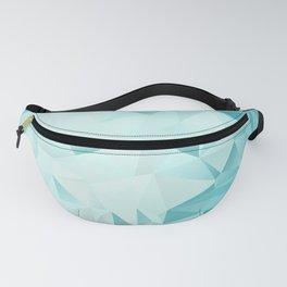 "Polygon Geometric Abstract Design ""Key West"" -Aqua, Turquoise Fanny Pack"