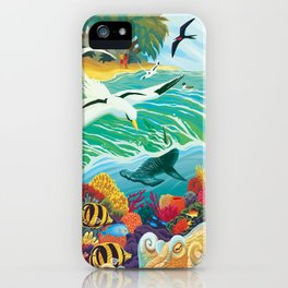 Our Oceans Sustain Us iPhone Case