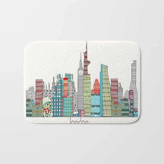 London city skyline  Bath Mat