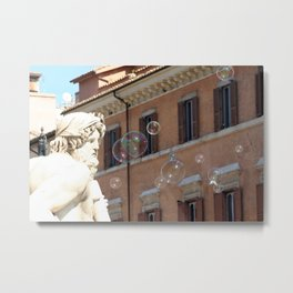 Bernini's Four Rivers Fountain Metal Print