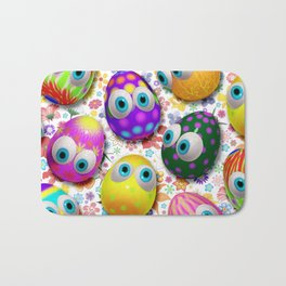 Cute Easter Eggs Cartoon 3d Pattern Bath Mat