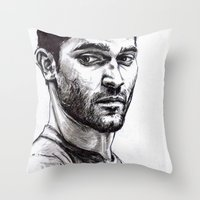 derek hale Throw Pillows featuring TEEN WOLF - Derek Hale by Sara (aka Wisney)