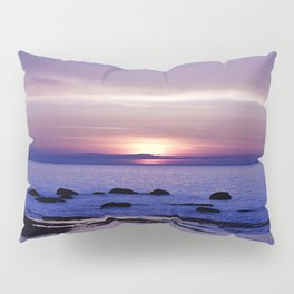 Blue and Purple Sunset on the Sea Pillow Sham