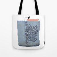 gladiator Tote Bags featuring FISH by karakalemustadi