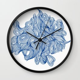 Blue To No End Wall Clock