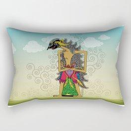 Wayang Arjuna Rectangular Pillow