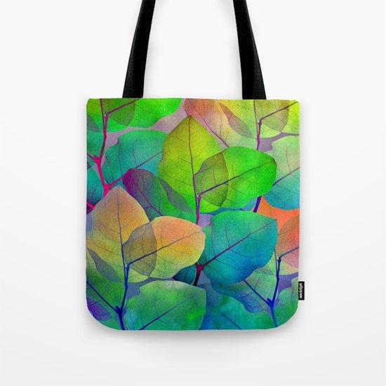 Translucent Leaves Tote Bag
