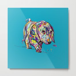 Dapple Painting with Bright Blue Background Metal Print