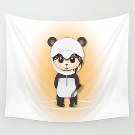 Chibi Panda-lecki Wall Tapestry