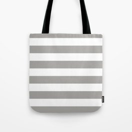Horizontal Stripes Pattern: Grey Tote Bag