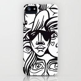 ヽ(゚▽゚*)乂(*゚▽゚)ノ iPhone Case
