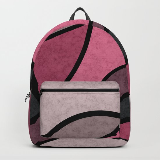 Pink sunrise , abstract Backpack