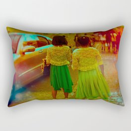 How Long Will We Be Connected Rectangular Pillow