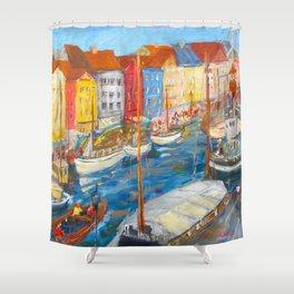 New Harbor, Copenhagen Shower Curtain