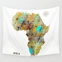 africa Wall Tapestries featuring Africa by bri.buckley