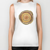 tree rings Biker Tanks featuring Tree Rings by Rachael Shankman