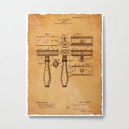 Gilette Razor patent Metal Print