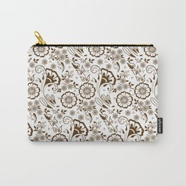 Mehndi or Henna Florals Carry-All Pouch