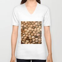 boob V-neck T-shirts featuring Decisions, Decisions / Boob Painting by Heather Buchanan