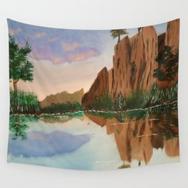 Cliffside Reflections Wall Tapestry