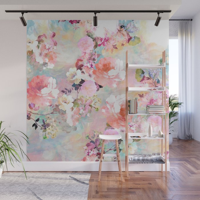 Love of a Flower Wall Mural by girlytrend Society6