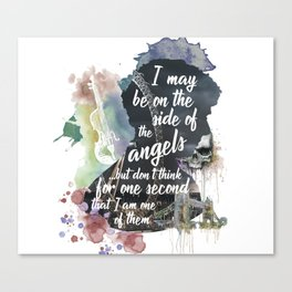 Sherlock Side of the Angels Canvas Print