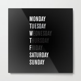 Black WFT Week Metal Print
