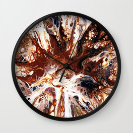 Deconstructed Caramel Sundae Wall Clock
