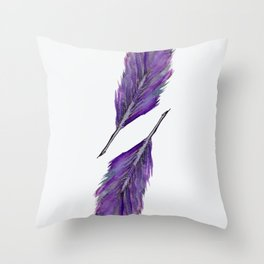 Twin Feathers Throw Pillow