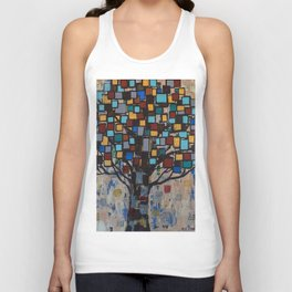 :: Stained Glass Tree :: Unisex Tank Top