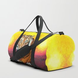 Awaiting the Darkness of Night (Male Tiger) Duffle Bag