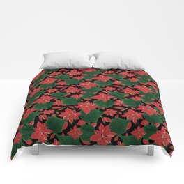 Poinsettia Party Comforters