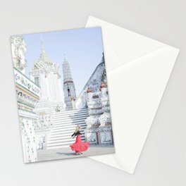 Dance at the Temple of Dawn Stationery Cards