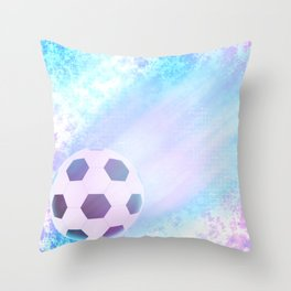 Flying football Throw Pillow